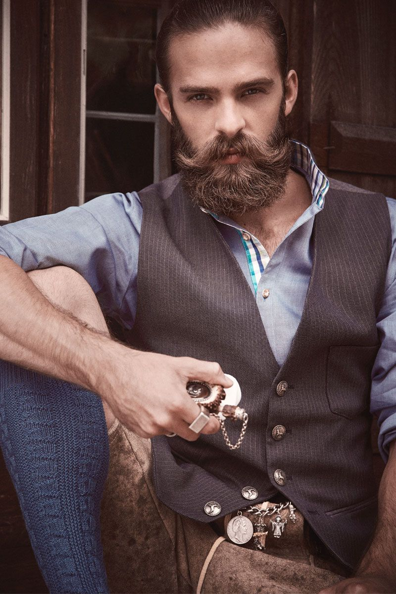 Cocovero Men Lederhosen Und Trachtenhemd Beard Styles For Men Beard Love Beard Styles