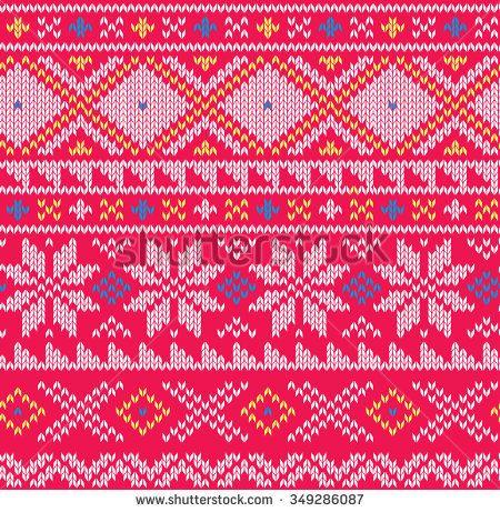 Knitted winter seamless pattern
