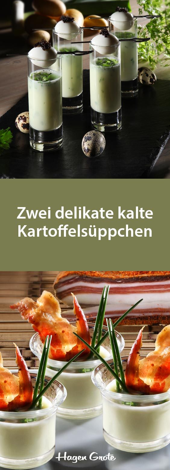 Photo of To delikate kalde potetsupper