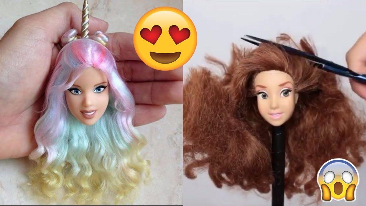 Barbie Hair Barbie Hairstyle Tutorial Barbie Hair Color Transformation