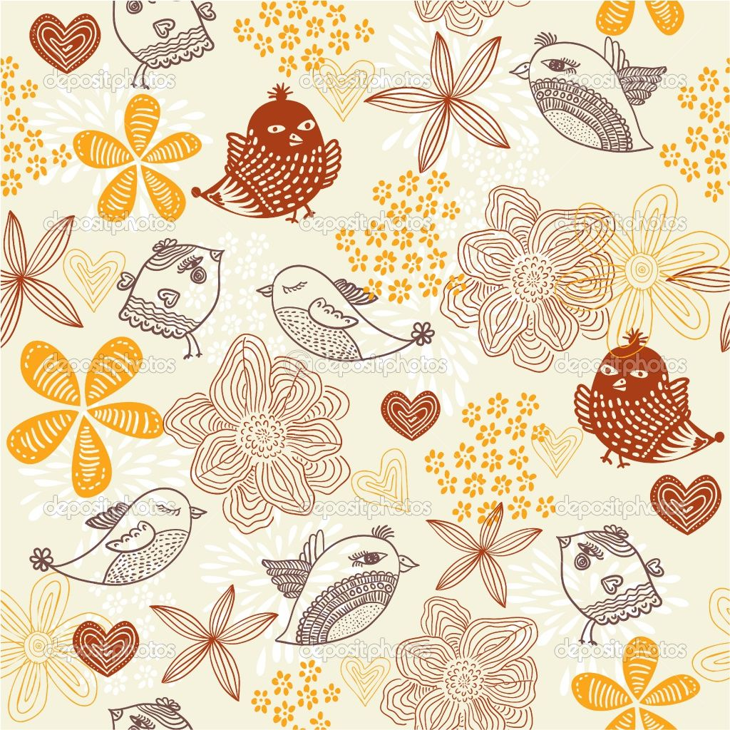 Vintage Iphone Wallpaper: ... Floral Background With