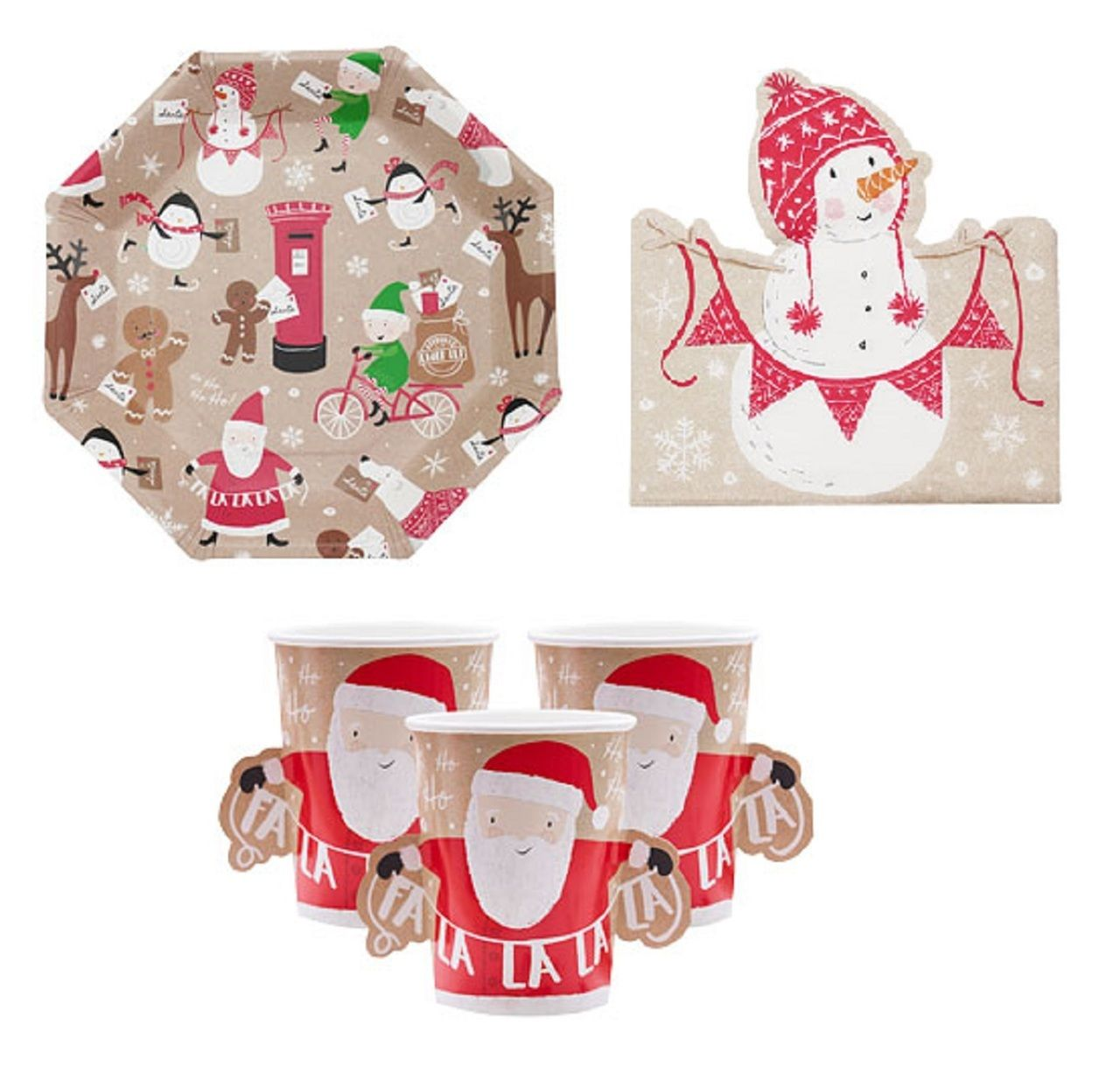Santa Friends Party Tableware Kit Party Tableware Party Party Buffet