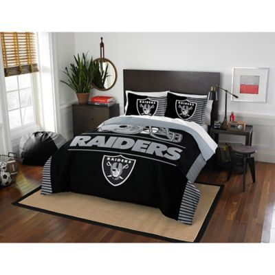 Nfl Oakland Raiders Draft Comforter Set Comforter Sets Queen