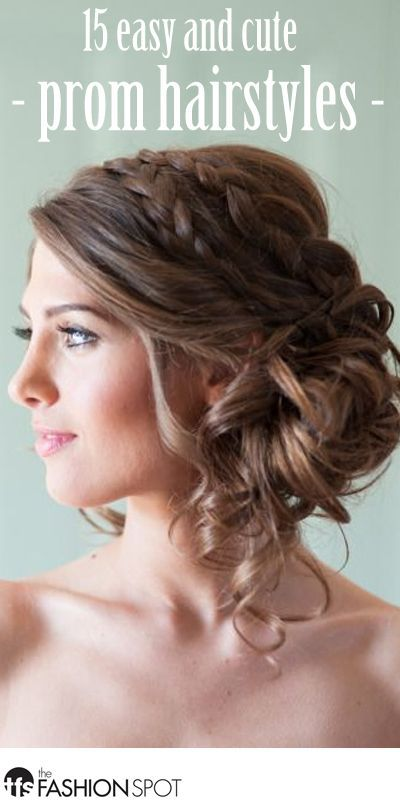 15 Pretty And Easy Prom Hairstyles Thefashionspot Simple Prom Hair Wedding Hairstyles Medium Hair Styles