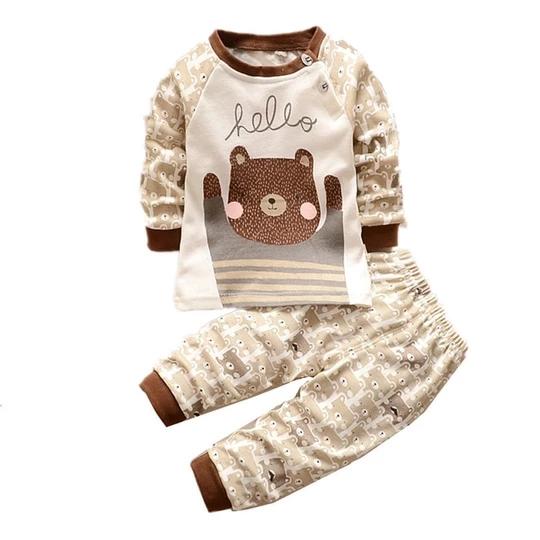 Owl Boys Cotton,Long Sleeve Infantile Suit