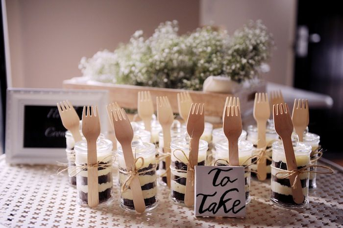 Cake in a takehome pack Indoor Garden Dinner Party with Such