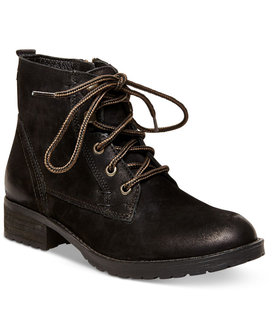 f63677997aa Steve Madden Gobbin Lace-Up Boy Booties - Boots - Shoes - Macy s