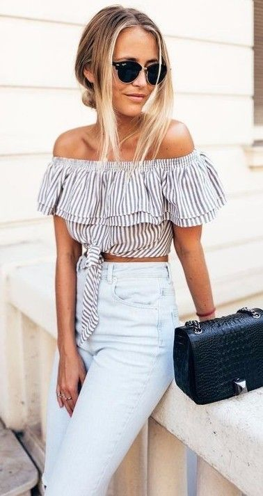 trendy stripes + high waist