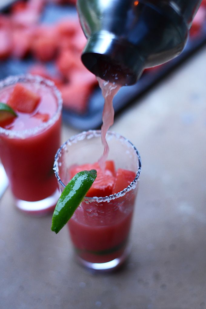 Watermelon Lime Margaritas   Minimalist Baker Recipes
