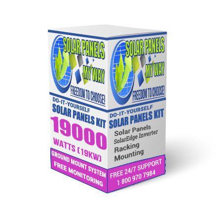 19000 Watt (19kW) Solar Ground Mount Kit With Solar Edge Inverter