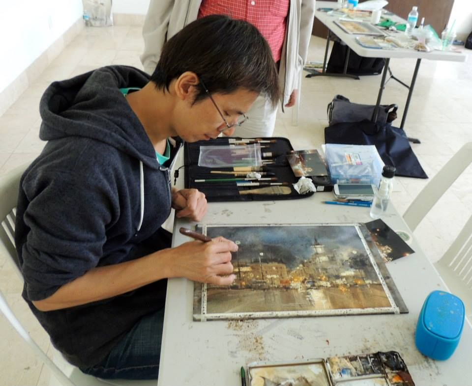 Chien Chung Wei Demo In Mexico Watercolor Artists Watercolor