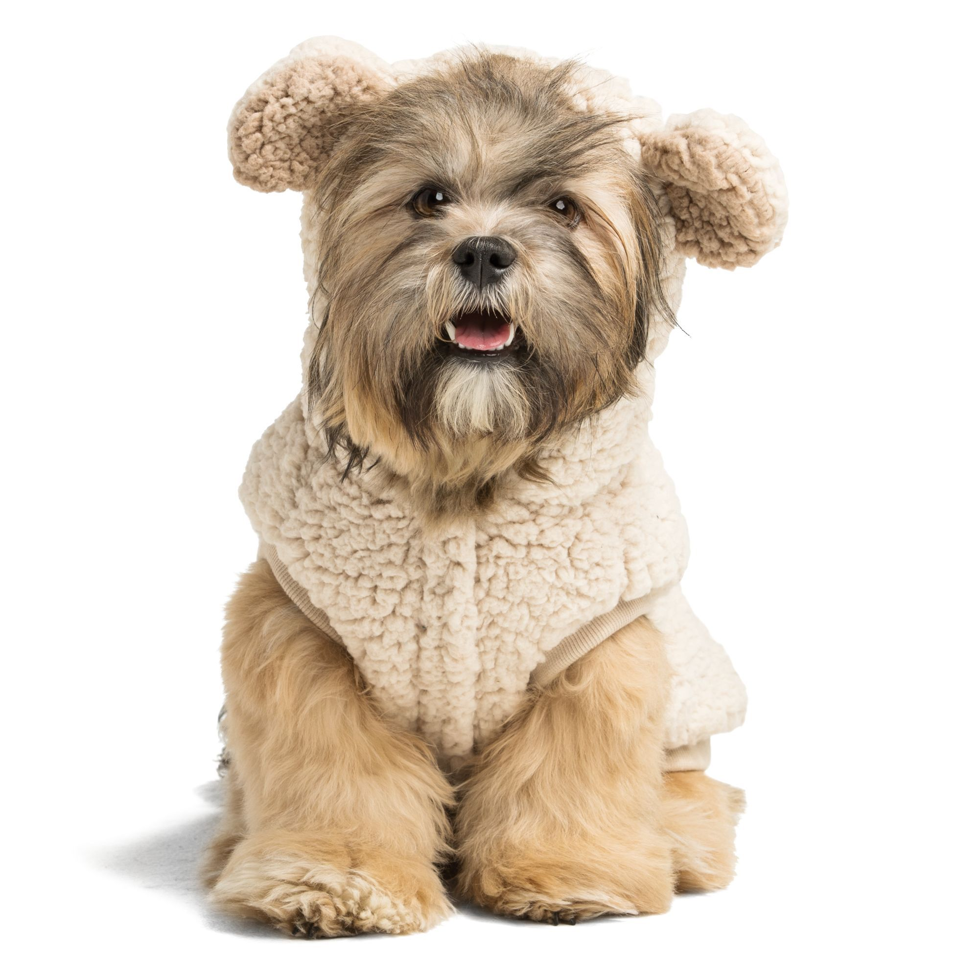 Top Paw Bear Fleece Pet Hoodie Size Medium Bear Dog Dog Hoodie