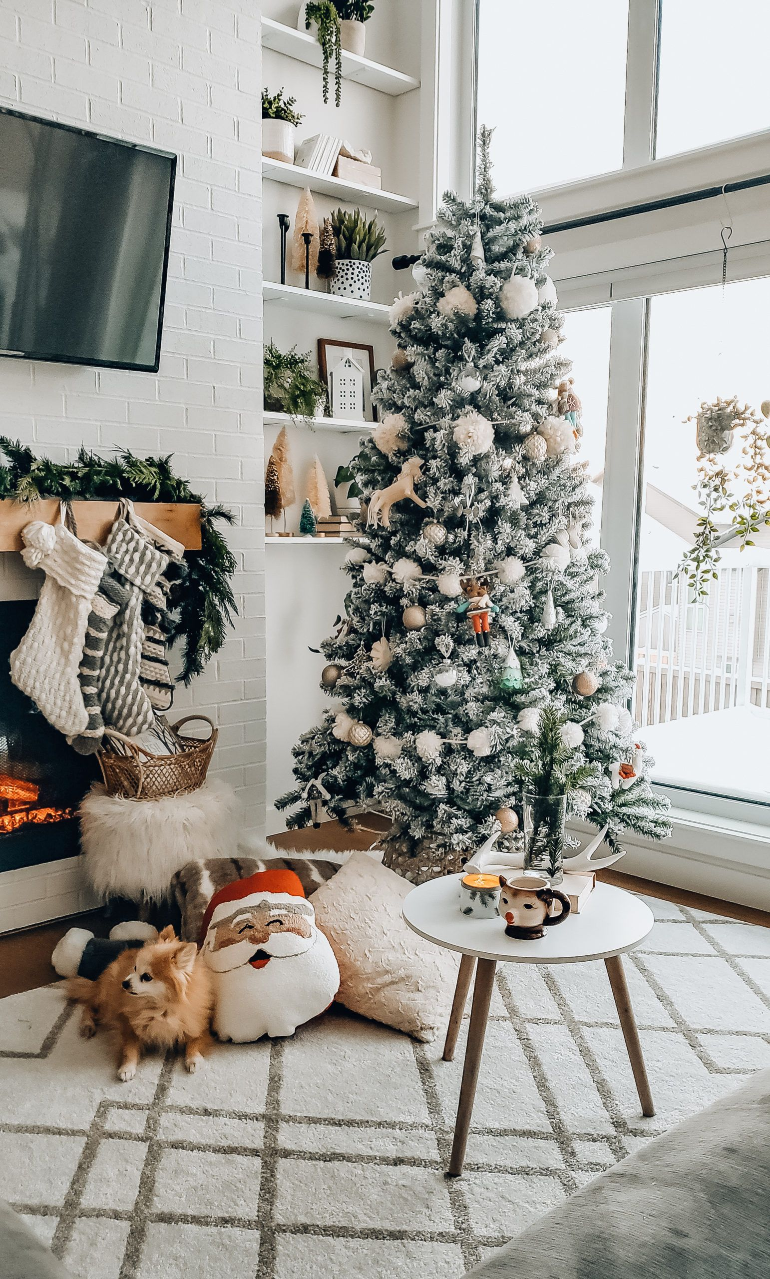 A Hygge Christmas Home Tour The Blush Home Cozy Scandinavian Holiday Decor In 2020 Scandinavian Holiday Decor Christmas Decor Diy Scandinavian Christmas Decorations