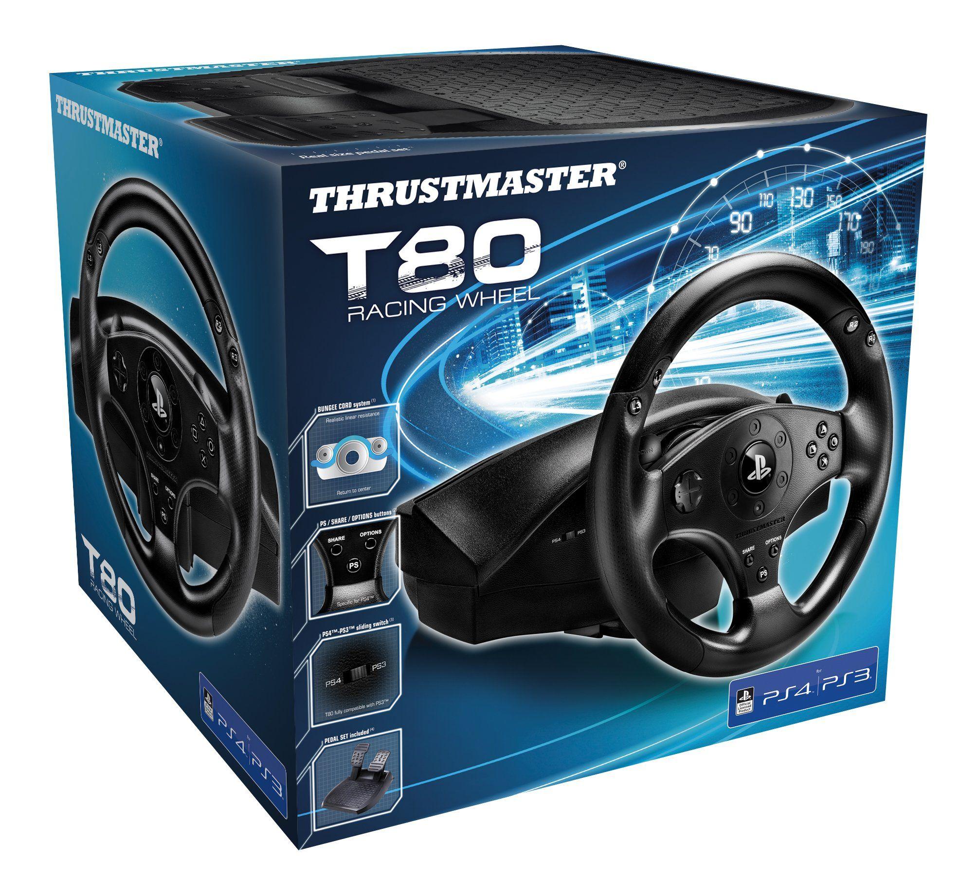Thrustmaster T80 Racing Wheel PS4/PC,Racing,