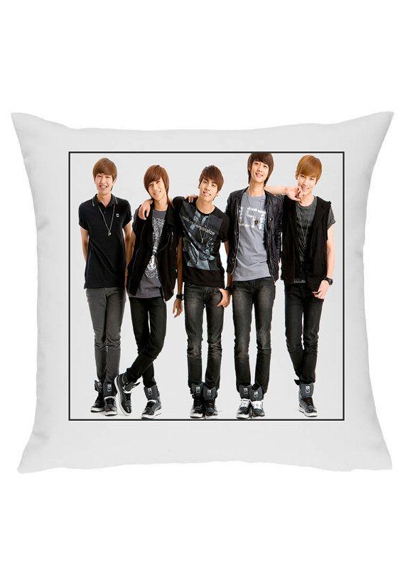Shinee Korean Boy Band Jrock Kpop Pillow Cushion By