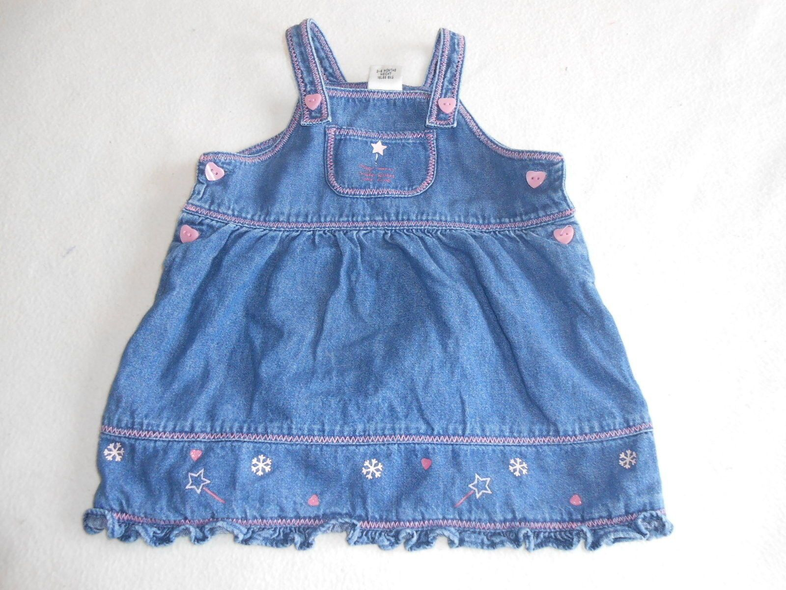 Baby Girls Clothes 3 6 Months Pretty Next Denim Dress • £3 70