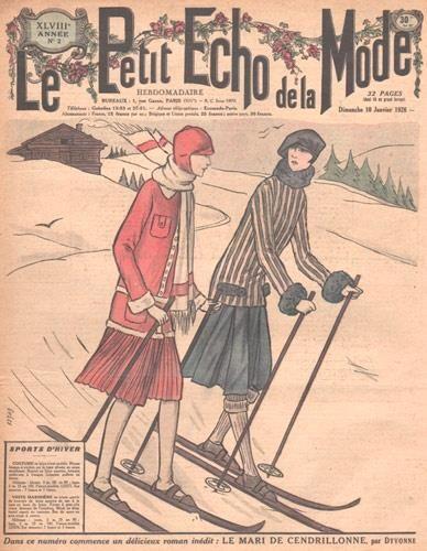 Ski wear, Le petit e  Ski wear, Le petit echo de la mode, 1920s