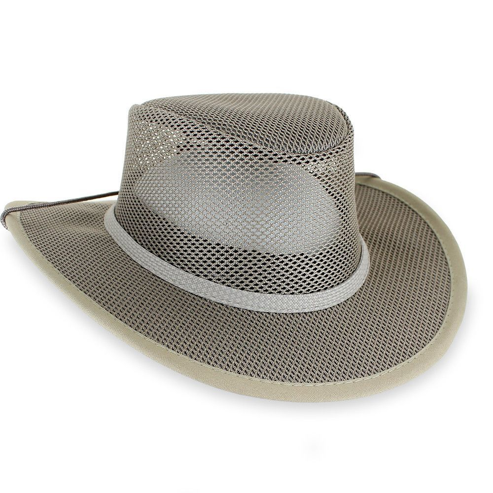 c80c4a1d55f Walkabout Soakable Mesh Hat by Stetson, Cool Mesh Crush-able Safari Hat