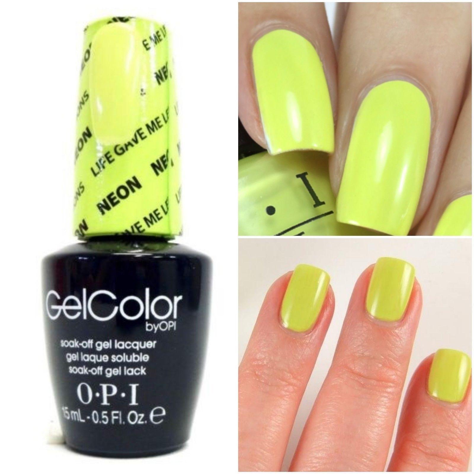 New Opi Gelcolor Soak Off Uv Led Gel Nail Polish 100 Authentic 0 5oz You Choose Ebay Gel Nail Colors Gel Color Nail Polish