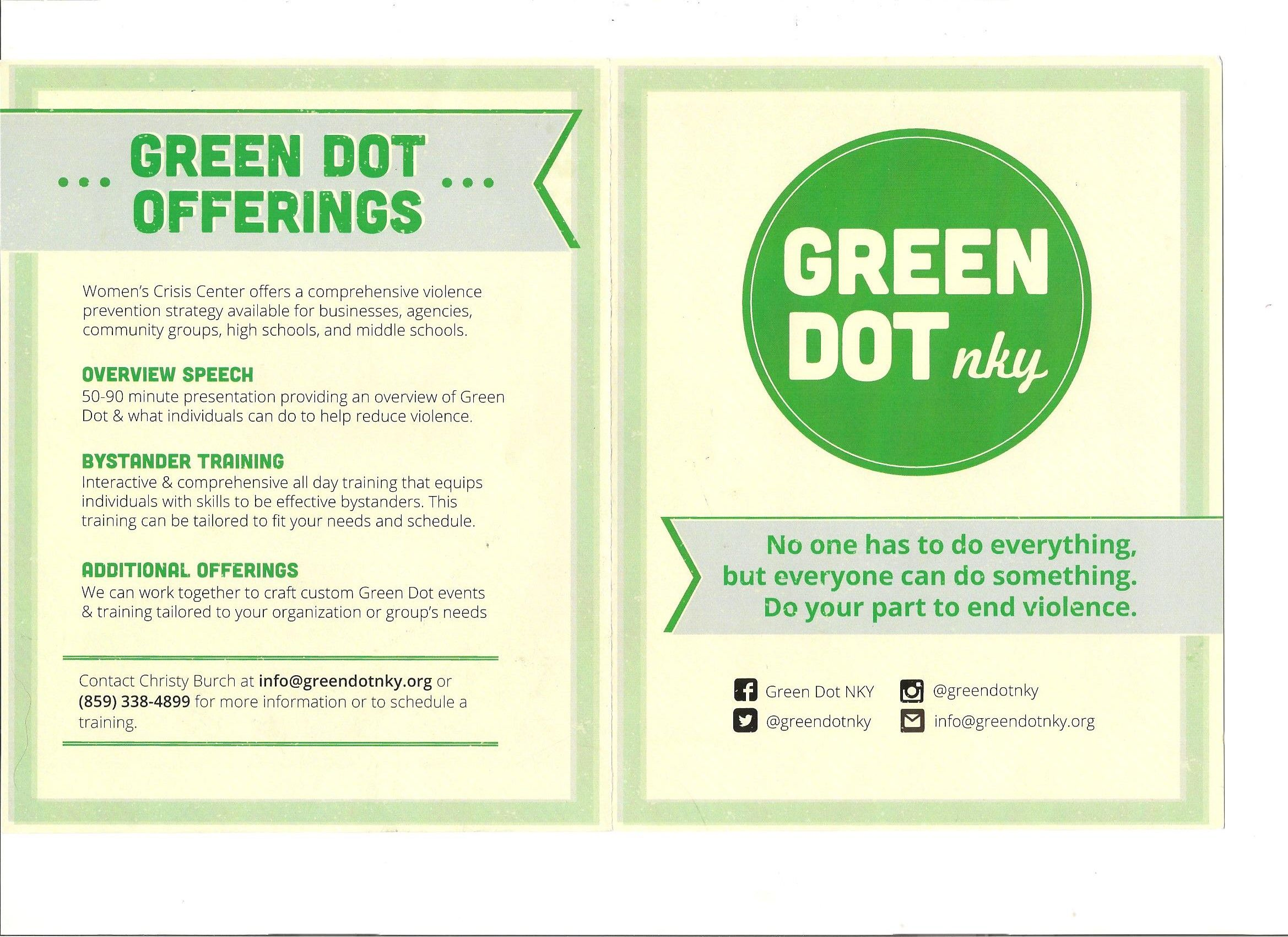 green dot campaign for non violence social service resources in green dot campaign for non violence