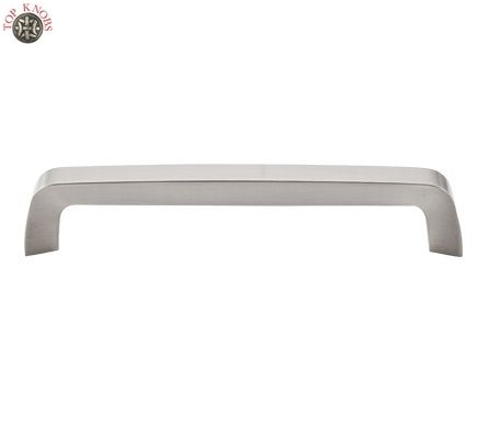 top knobs m1170 tapered bar pull 6 5 16 c c brushed satin