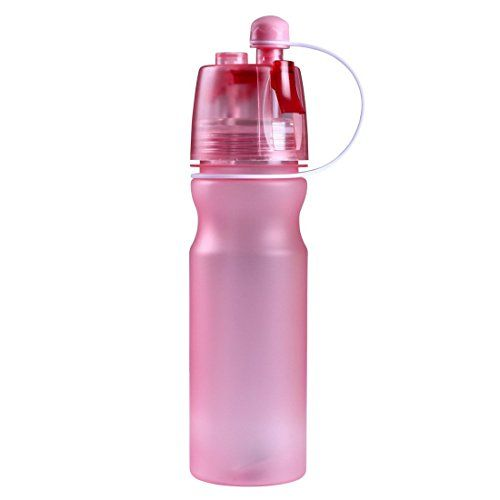 5607c68124 BOBOROOM 600ml20oz Spray Sport Water Bottle Sports Cooling Hydration Bottle  BPAFree Pink ** Click image for more details.