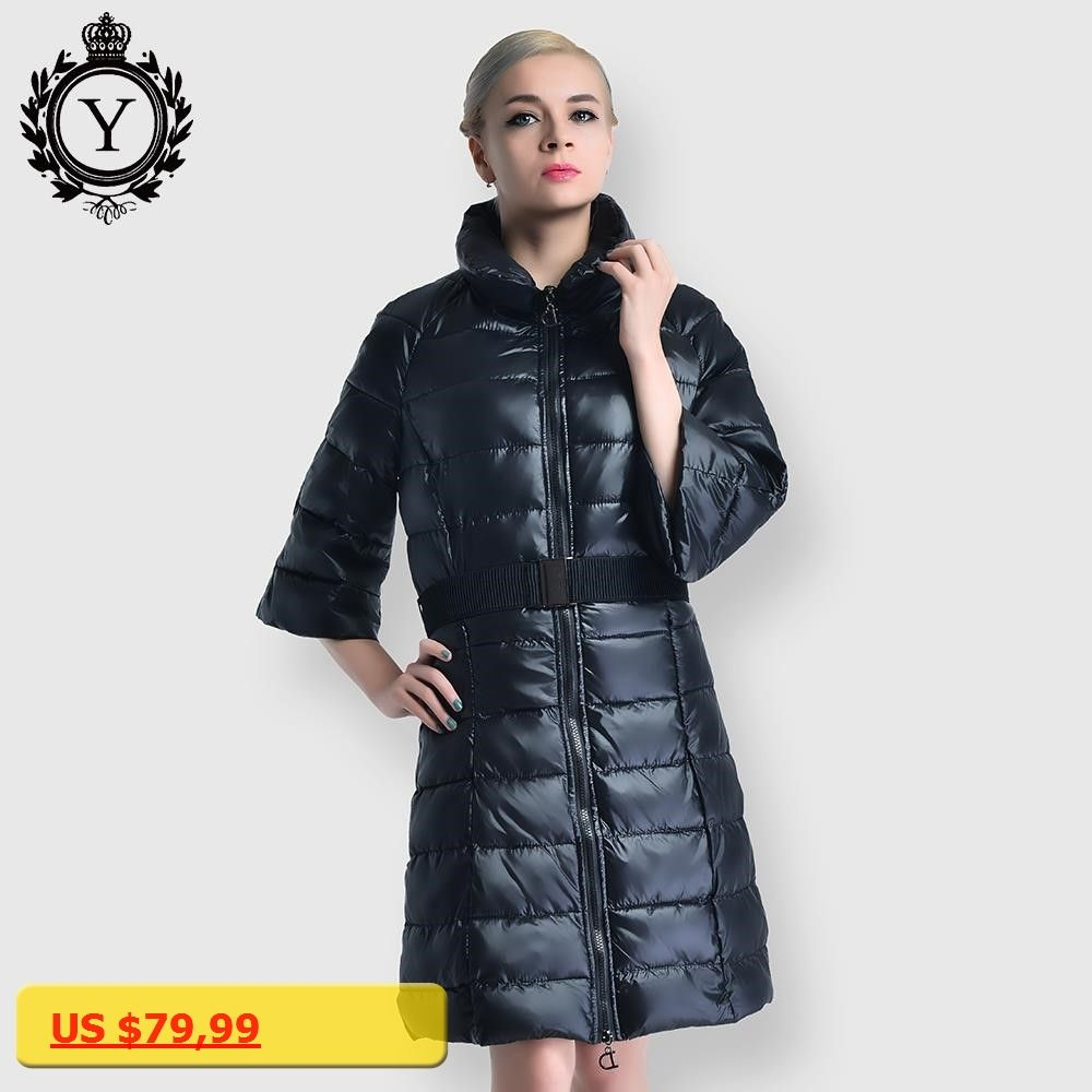 COUTUDI Fashion Winter Womens Jackets Clothing Office Lady Warm Coat Long Slim Cotton Padded Female Parkas Casual Jacket Womens