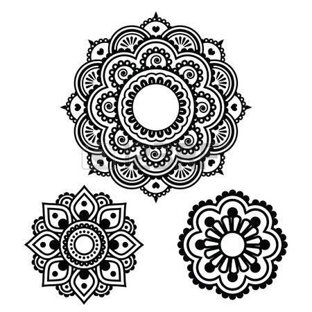 indian henna tattoo runde bauform mehndi muster photo. Black Bedroom Furniture Sets. Home Design Ideas