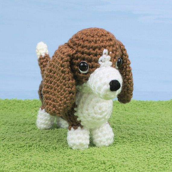 PDF AmiDogs Basset Hound amigurumi dog CROCHET PATTERN | Amigurumi ...
