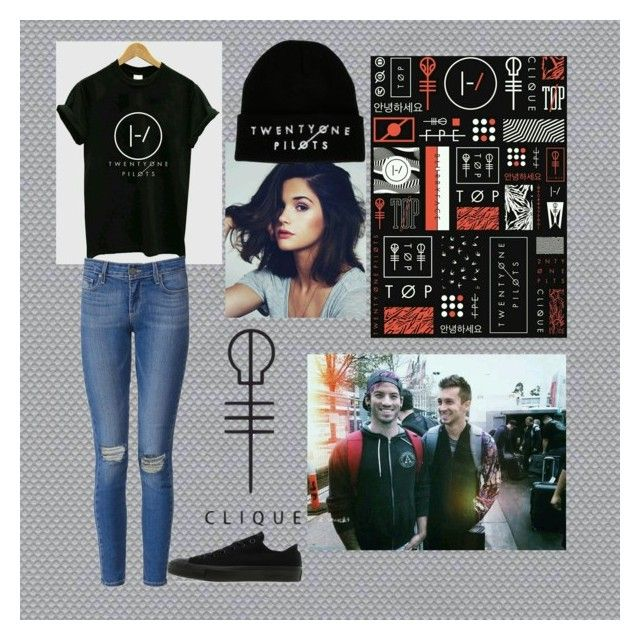"""♡Twenty one pilots ♡"" by cesiaa18 on Polyvore featuring Astek, Paige Denim and Converse"