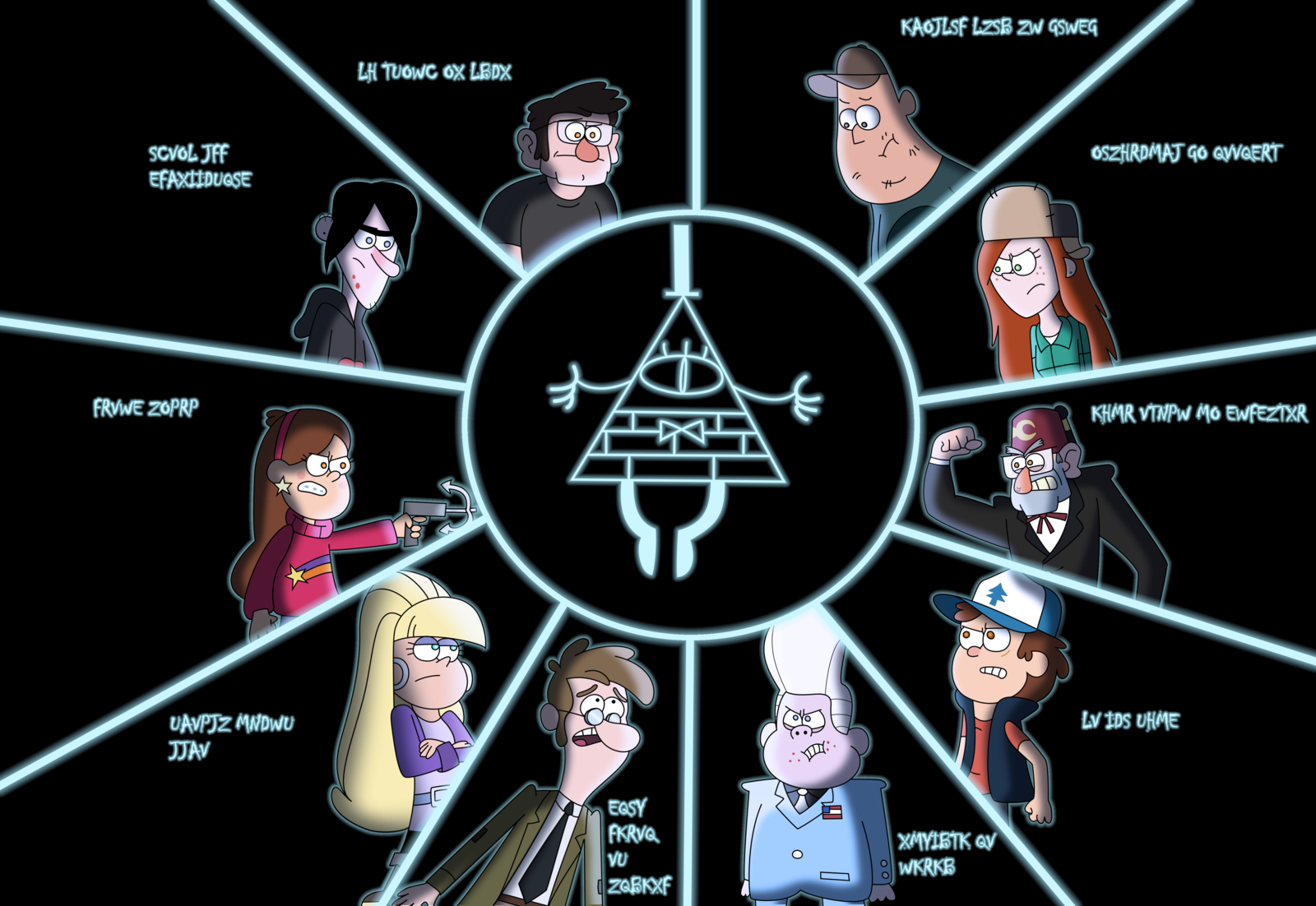 The Bill Cipher Wheel By E350tb On Deviantart Gravity Falls