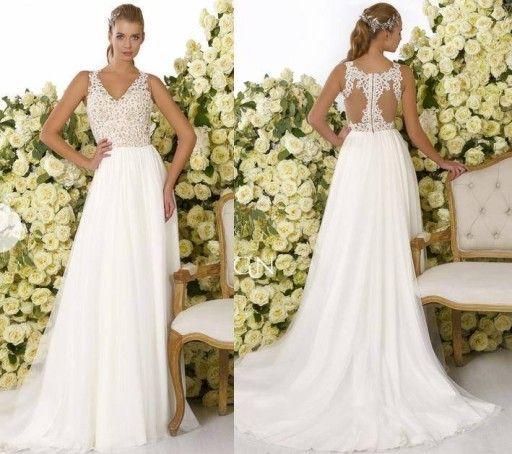 Suknia Slubna Zwiewna Koronka Crystal Design 6797804181 Oficjalne Archiwum Allegro Wedding Dresses Wedding Dresses Lace Sleeveless Wedding Dress