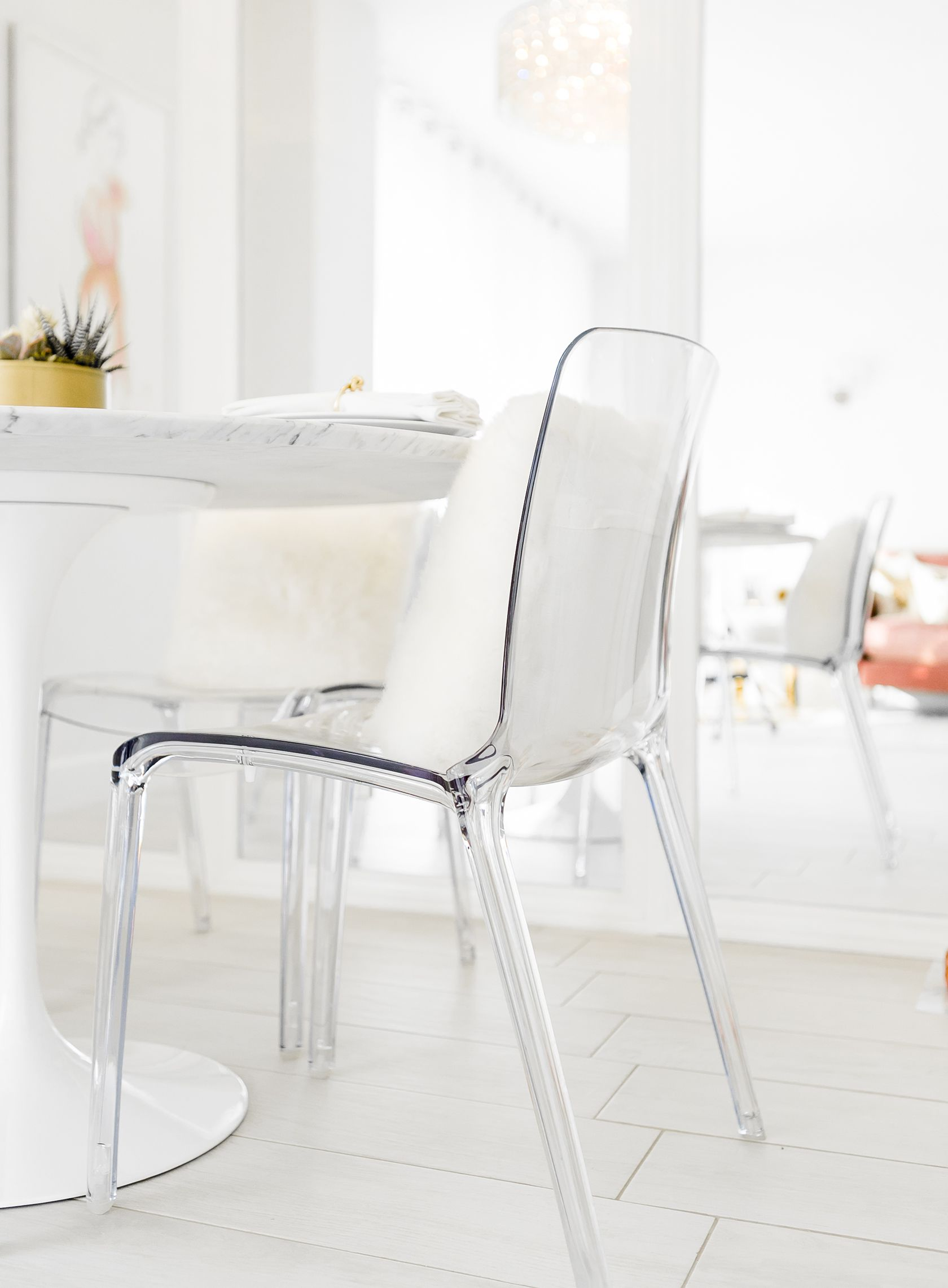 Sydne Style Shows Luxe Dining Room Decor Ideas With Room & Board Stunning White Dining Room Chairs Modern Inspiration