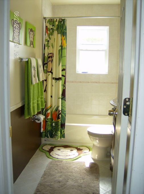 Original Idea Monkey Bathroom Vacillating Between Monkeys And Beach Theme Now
