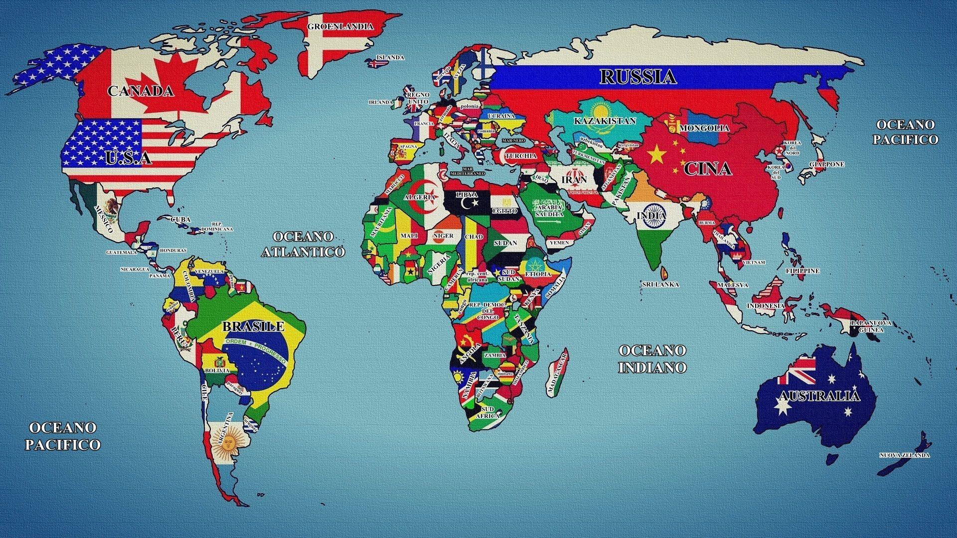 Cartina Mondo Con Bandiere.Pin Su Fotografie Sfondi Citazioni