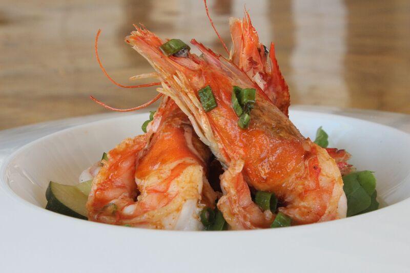 Good restaurants - East Maui | Kau'ai Shrimp.   Photo Courtesy of Merriman's Kapalua