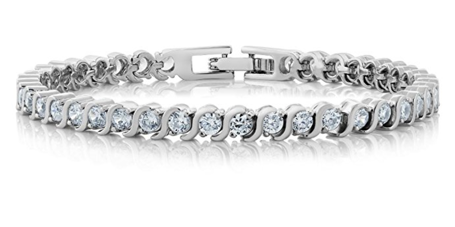 f95a31fcde2aa 4.50 Ct Stunning Round White Cubic Zirconia CZ Tennis Bracelet 7 Inch