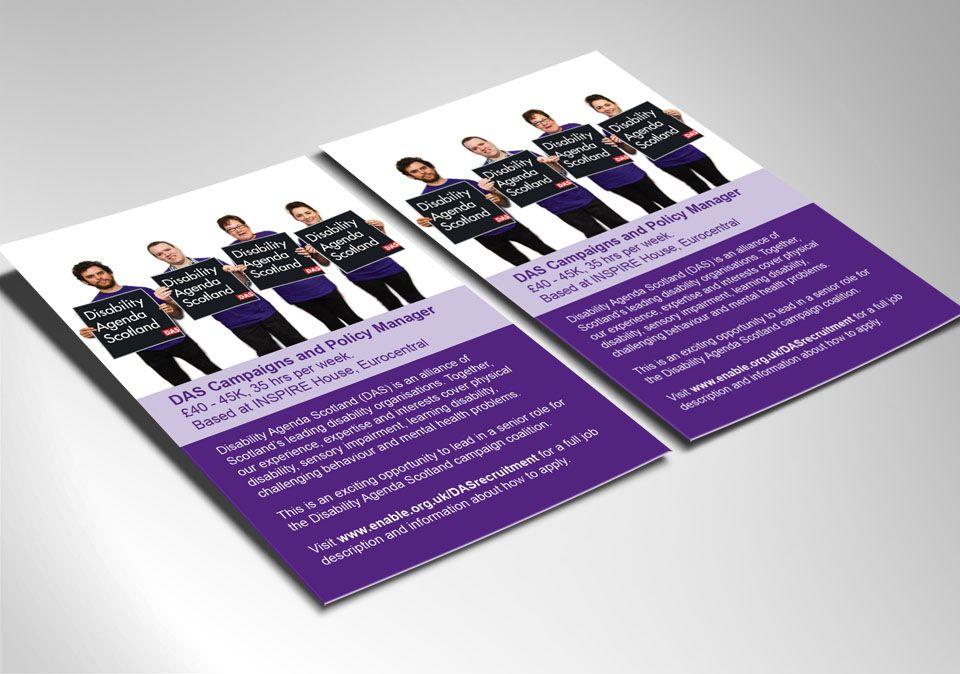 DISABILITY AGENDA SCOTLAND \u2013 Informative Recruitment Poster for