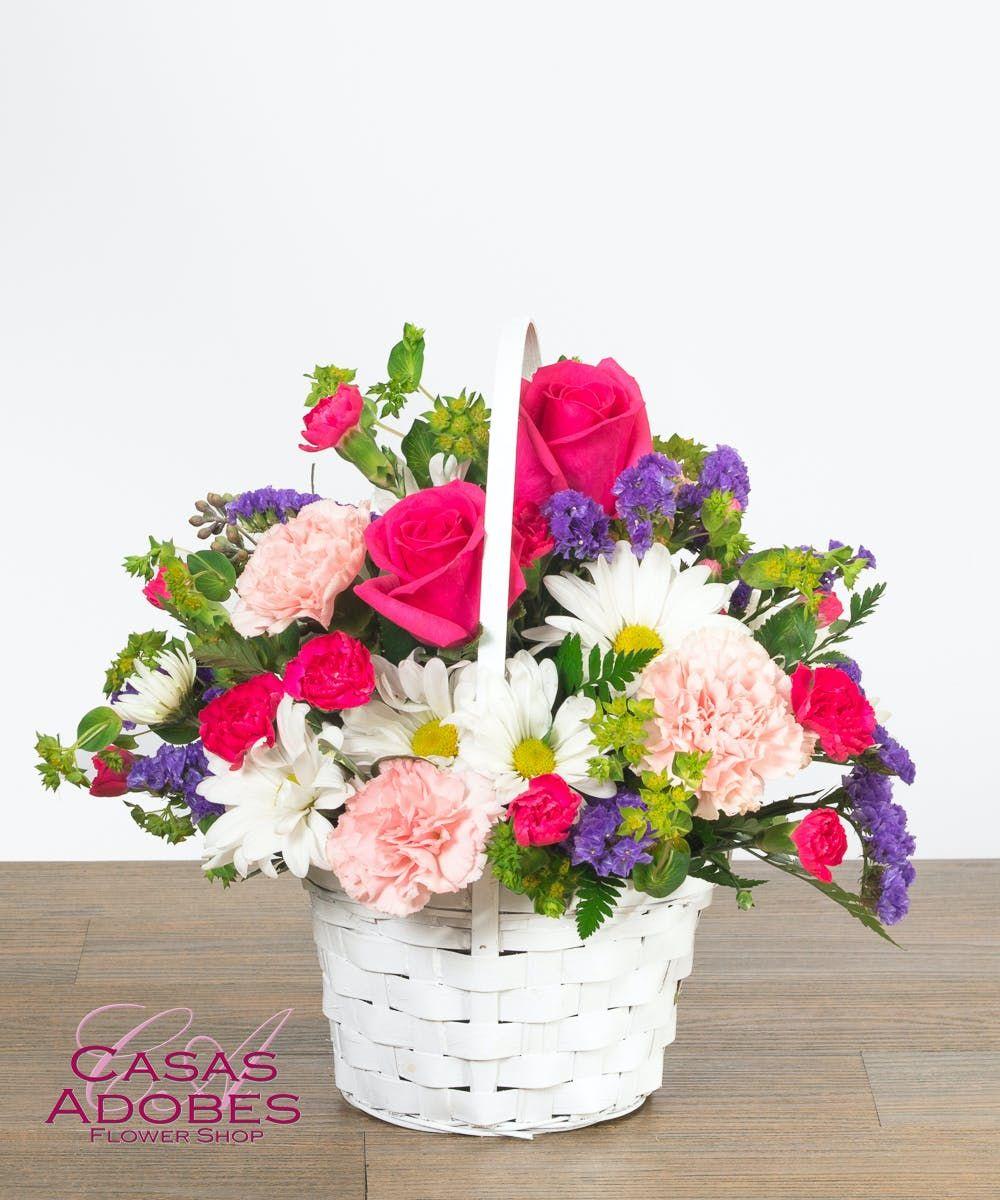 Freshly picked basket in 2020 basket flower arrangements