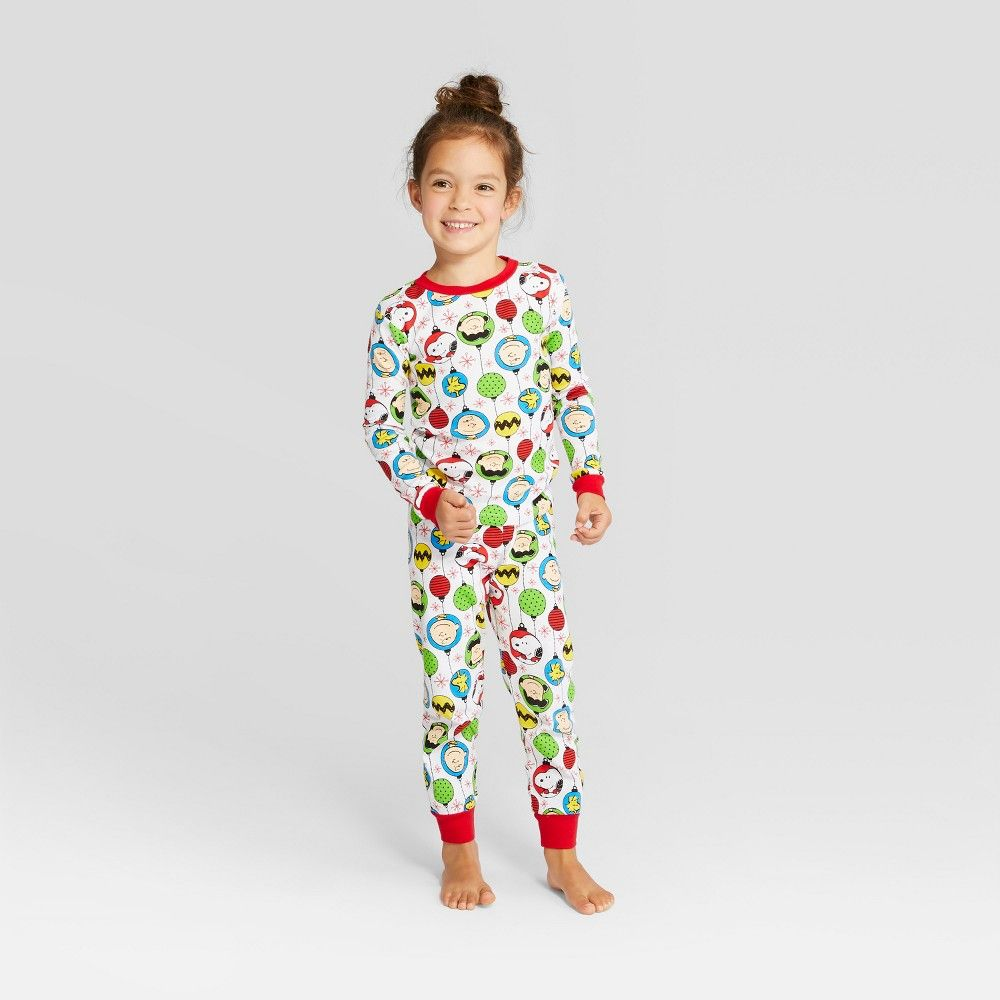 a2eefd8678 Peanuts Toddler Holiday Pajama Set - White 3T