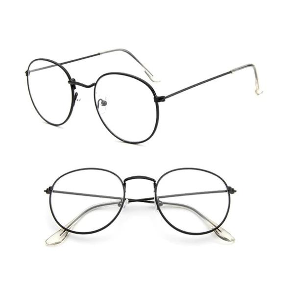 Men Women Rectangular Rose Gold Frame Clear Lens Glasses Designer Fashion Wrap