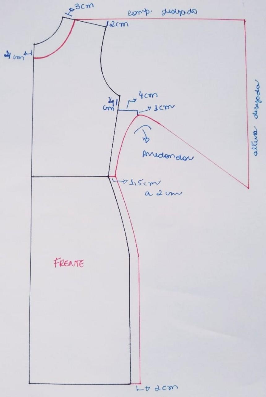 Sihblog - Modelagem e Costura - MOLDE VESTIDO COM MANGA DIFERENTE #schnittmusterzumkleidernähen