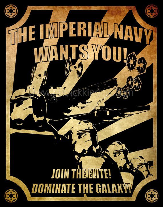 Star Wars Imperial Navy Recruitment Poster Art Print Propaganda