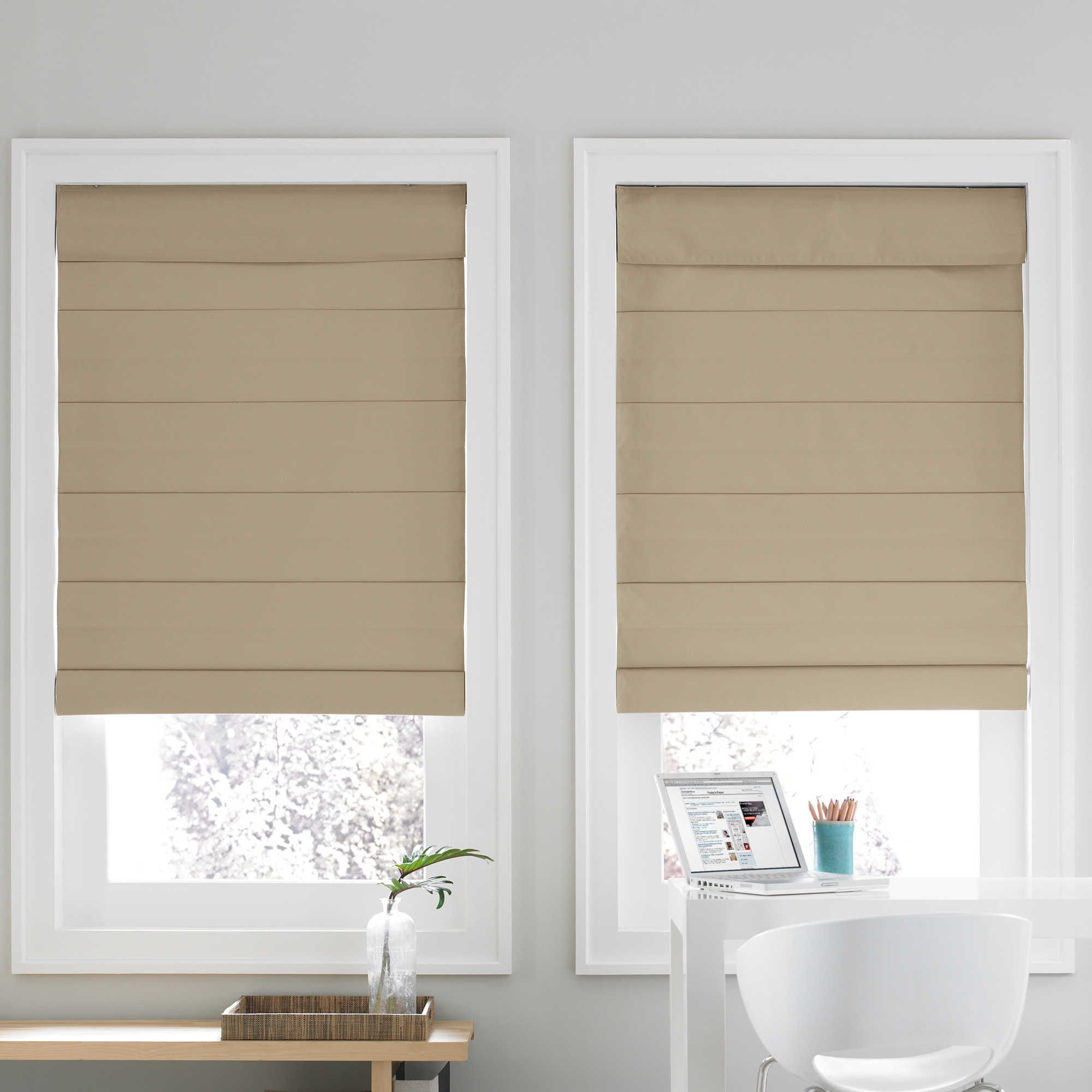The Real Simple Cordless Roman Cellular Shade Creates A Cozy Atmosphere These Shades Feature Room Darkening Thermal Backing And Fabric