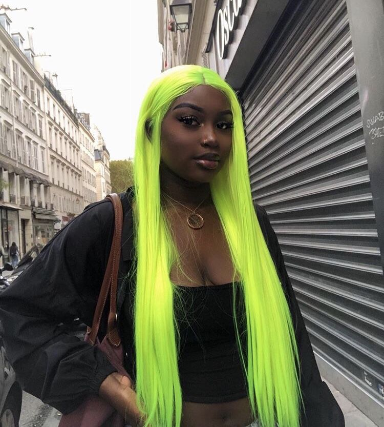 Hairstyles Neon Fashion Dresses Style Blackhairstyles Wigs Travel Hair Styles Green Hair Human Hair Wigs