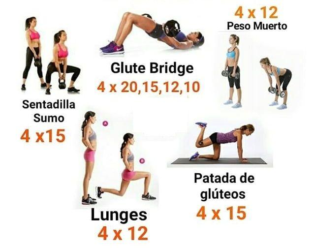 rutina de pierna y gluteo para mujer en el gym