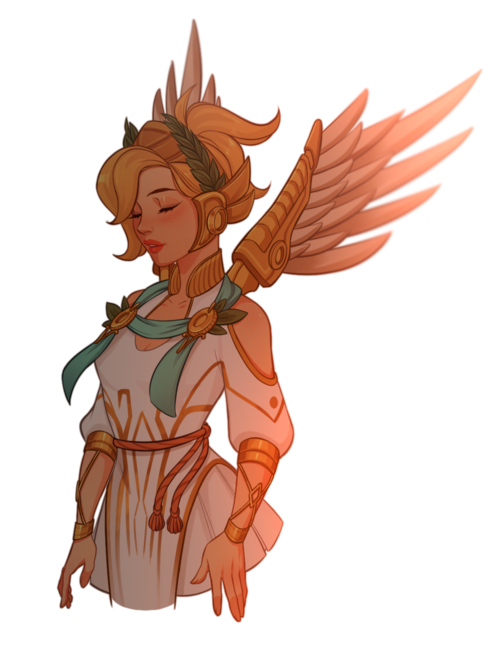 Mercy / Summer games skin on We Heart It Mercy overwatch