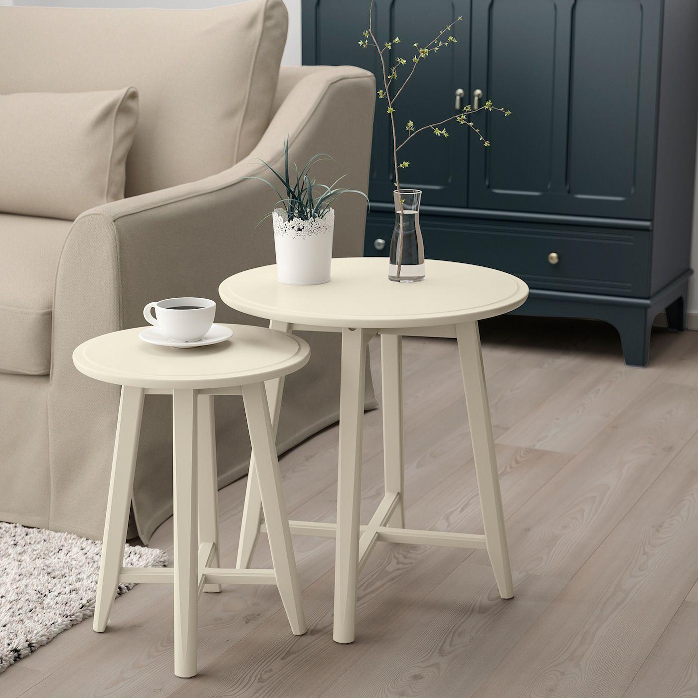 IKEA KRAGSTA Light Beige Nesting tables, set of 2 in 2020