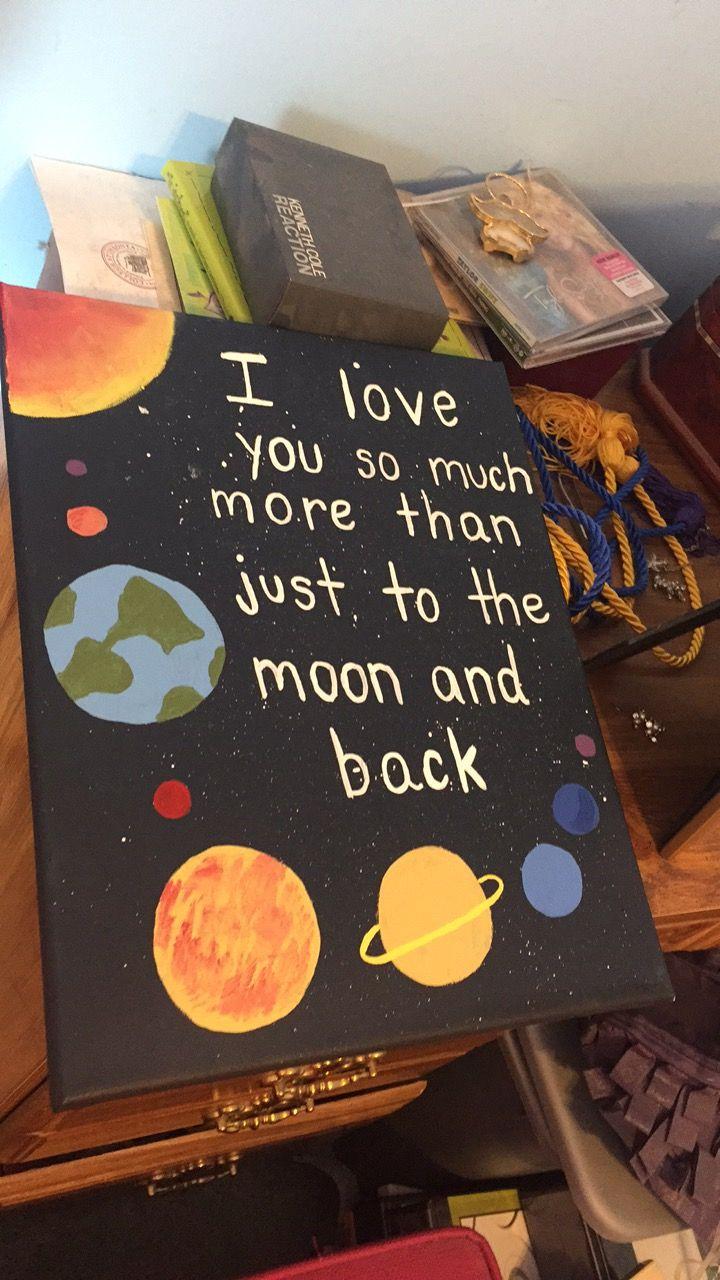 Crafts Boyfriend Tothemoonandback Paint Canvas Ideas Para Regalos