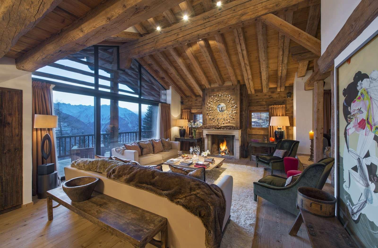 Stunning Chalet In Center Of Verbier Kingsavenue Com Luxury Ski Ski Chalet Luxury Ski Chalet